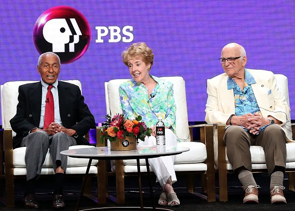 Arthur Duncan, George Engel and Gavin MacLeod at the Beverly Hilton Hotel on July 31, 2018 in Beverly Hills, California. | Photo: Getty Images