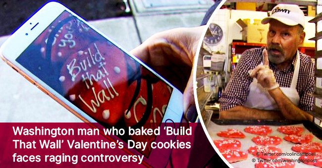 Washington man who baked 'Build That Wall' Valentine's Day cookies faces raging controversy