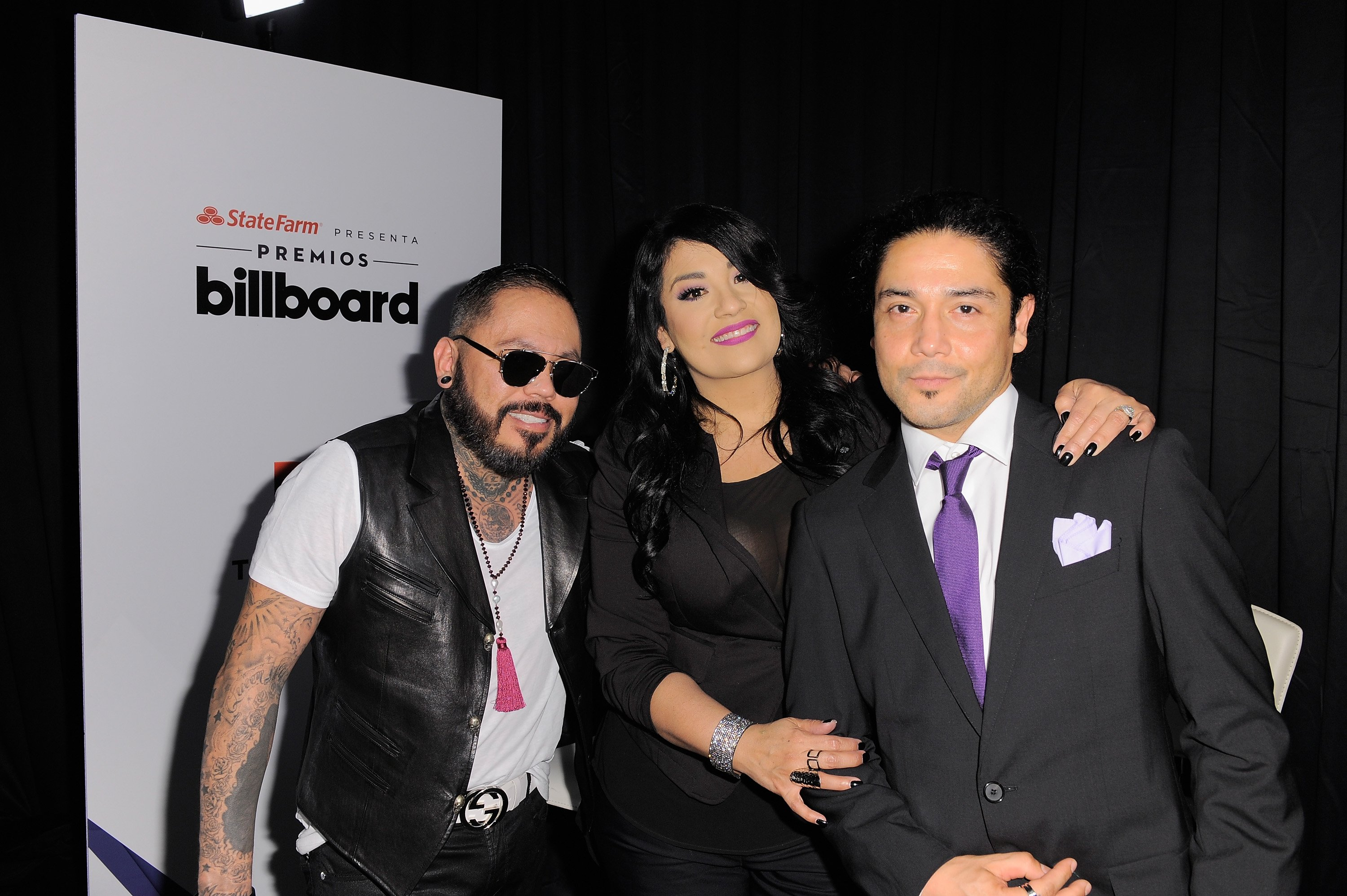 "Abraham Quintanilla, Suzette Quintanilla and Chris Pérez of Los Dinos attend the 2015 Billboard Latin Music Awards ""Premios Billboard"" at BankUnited Center on April 30, 2015 in Miami, Florida. 