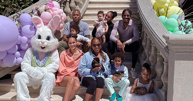 Marjorie Harvey Poses with Her Children & Grandkids Surrounded by Lavish Easter Decor (Photos)