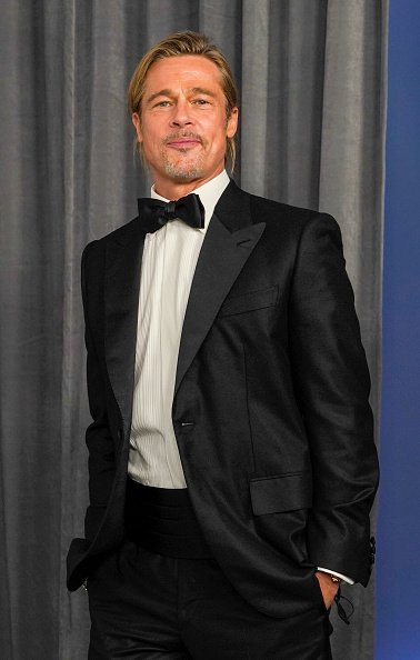 Brad Pitt at the Oscars on Sunday, April 25, 2021, at Union Station in Los Angeles. | Photo: Getty Images