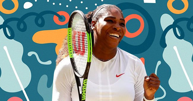 Serena Williams' Daughter Olympia Has the Same Brown Eyes as Her as She Plays with a Toy Dino