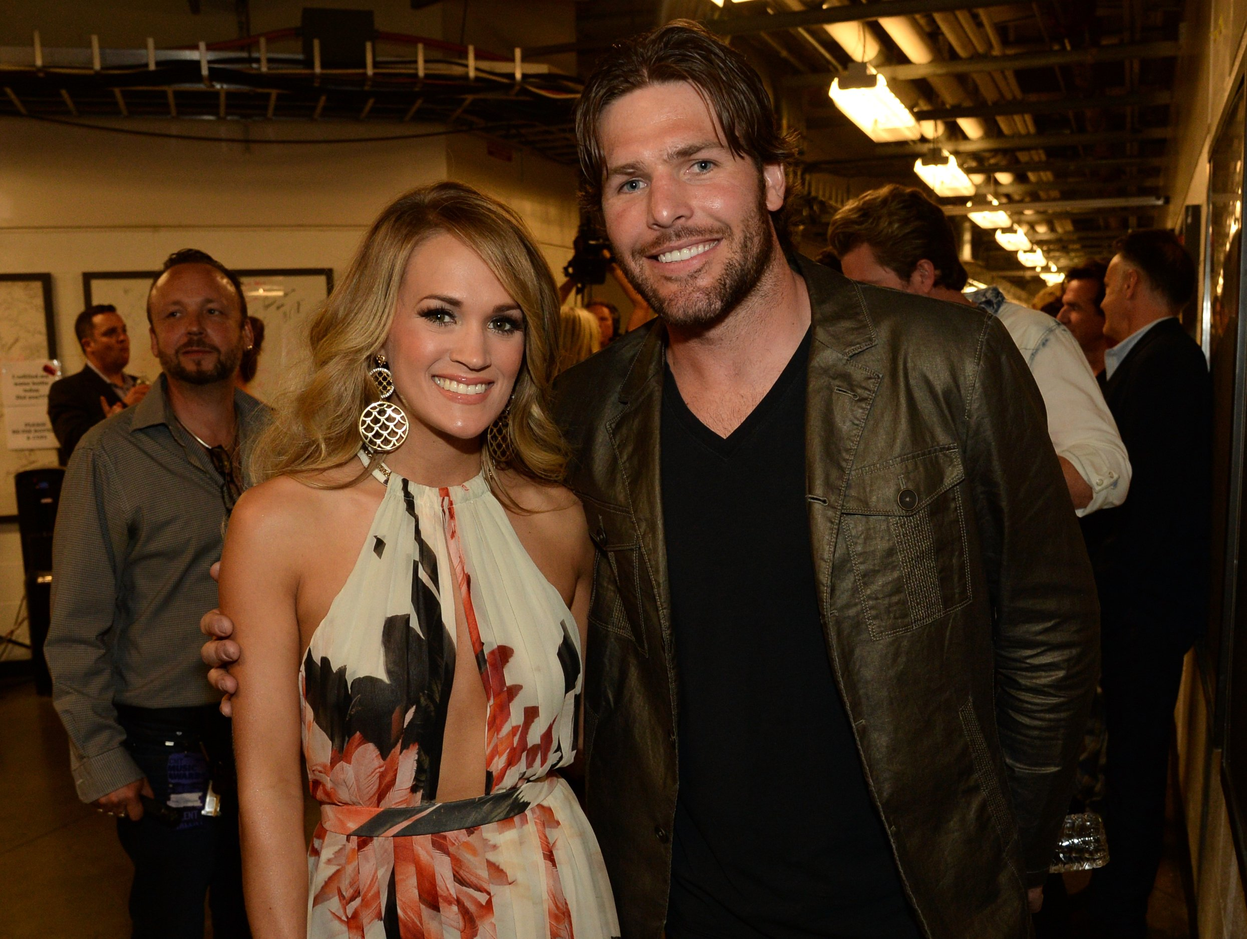 Carrie Underwood and Mike Fisher attend the 2014 CMT Music Awards on June 4, 2014, in Nashville, Tennessee. | Source: Getty Images.