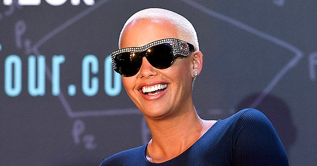 Amber Rose and Son Sebastian Work Out Together in Their Home Gym