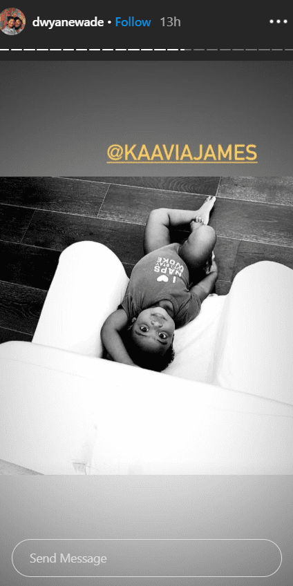 Kaavia James poses on her dad's Instagram story. | Source: Instagram.com/DwyaneWade