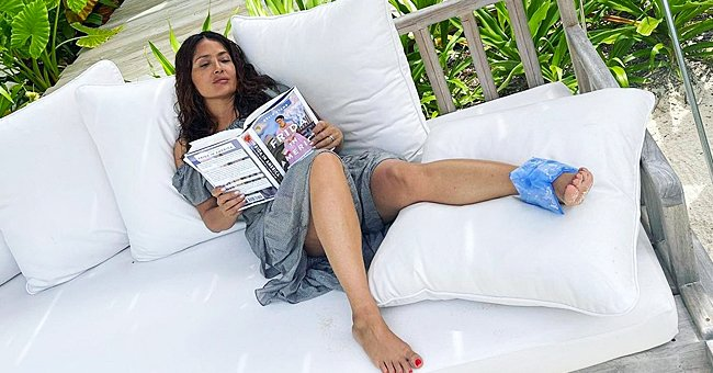 Salma Hayek, 54, Shows Her Leg Propped-up after She Sprained Her Ankle — Here's What Happened