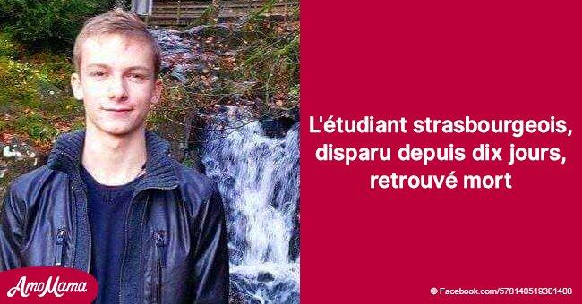 Axel, un étudiant de Strasbourg, porté disparu depuis dix jours, a été retrouvé mort
