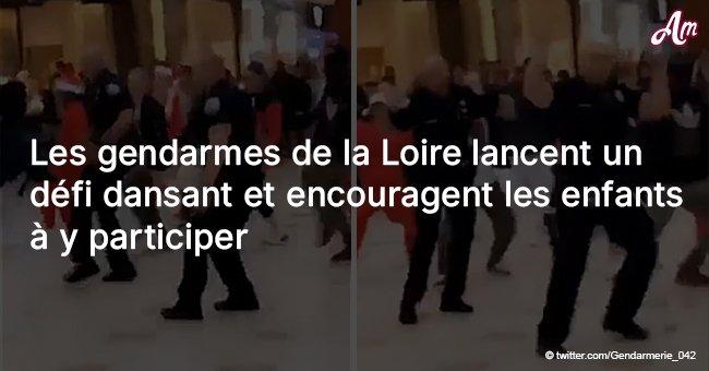 Les gendarmes de la Loire lancent un défi dansant et encouragent les enfants à y participer