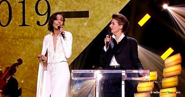 Victoires de la Musique: la journaliste Leïla Kaddour-Boudadi chante en l'honneur de Michel Legrand