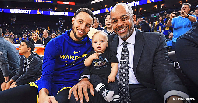 Stephen Curry Glows with Pride and Joy as He Brings Father & Baby Son to His Basketball Game