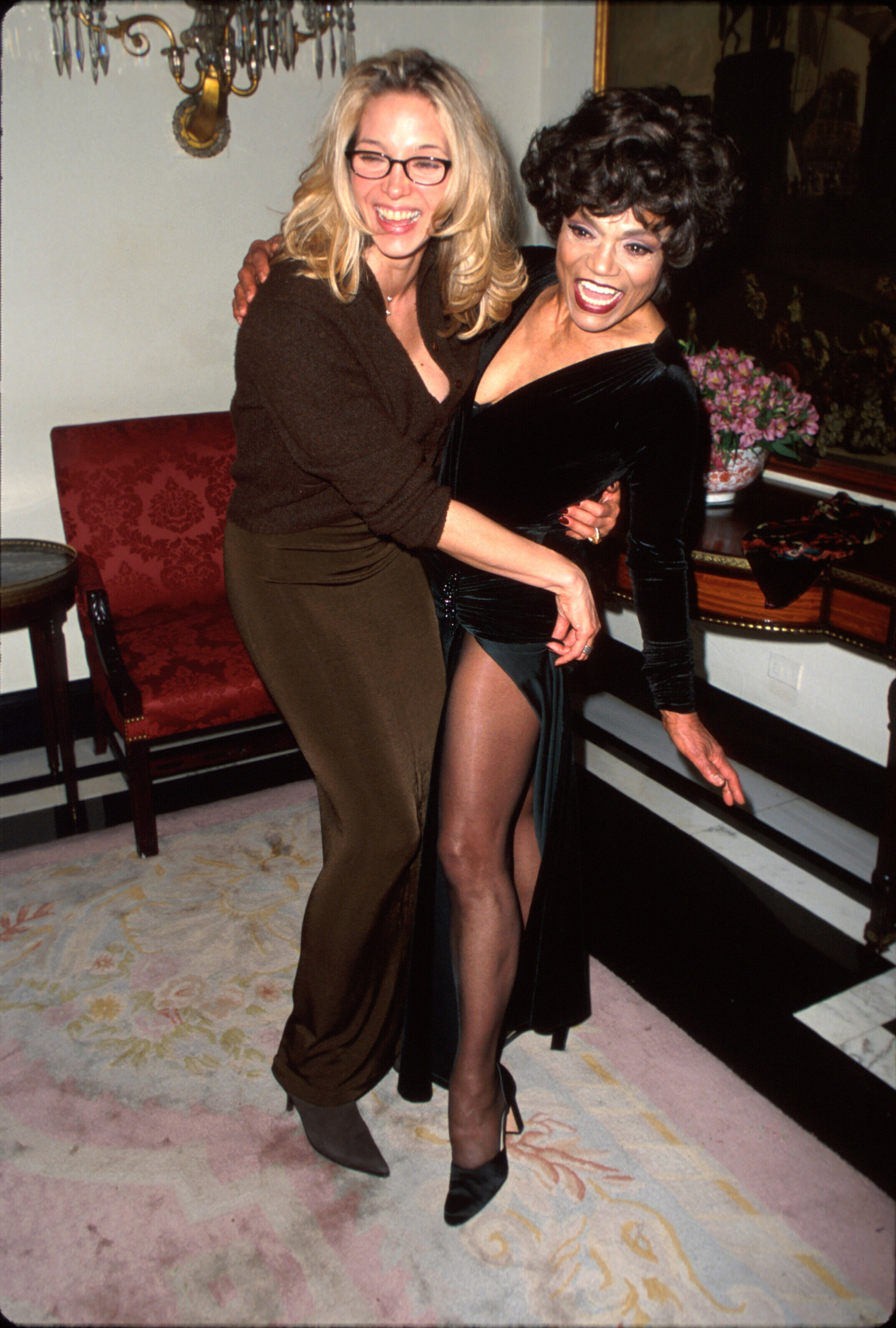 Eartha Kitt and her daughter, Kitt Shapiro, after Eartha's opening night performance at the Cafe Carlyle on January 6, 1999   Photo: Getty Images