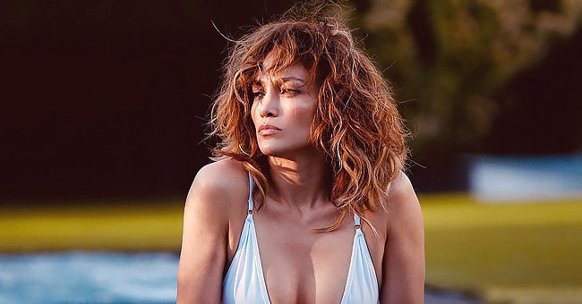 Jennifer Lopez of 'Hustlers' Shows off Perfect Figure in White Swimsuit