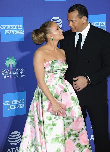 Jennifer Lopez and Alex Rodriguez arrive for the 2020 Annual Palm Springs International Film Festival Film Awards Gala held at Palm Springs Convention Center on January 2, 2020 in Palm Springs, California. |Photo: Getty Images