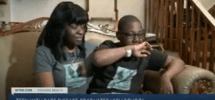 Dante Herrera with his mother at their Virginia home   Source: YouTube/WTKRNews