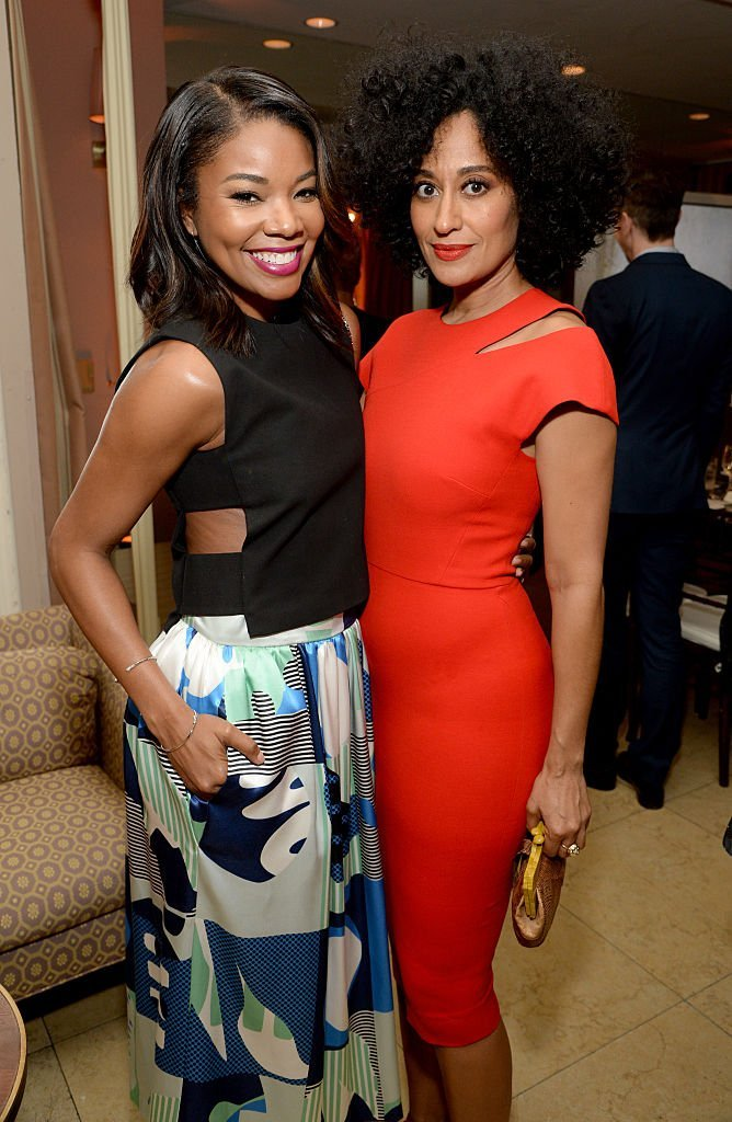 Tracee Ellis Ross & Gabrielle Union at ELLE's Annual Women in Television Celebration on Jan. 13, 2015 in California | Photo: Getty Images