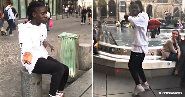 Video of street dancer's epic moonwalk skills on a pavement went viral in 2018