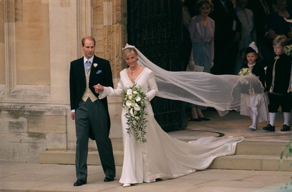 Prince Edward and his beautiful bride on their wedding day.| Photo: Getty Images