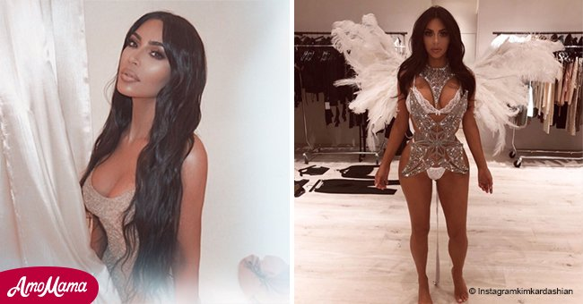 Kim Kardashian left little to the imagination with throwback photo of flashing Halloween costume