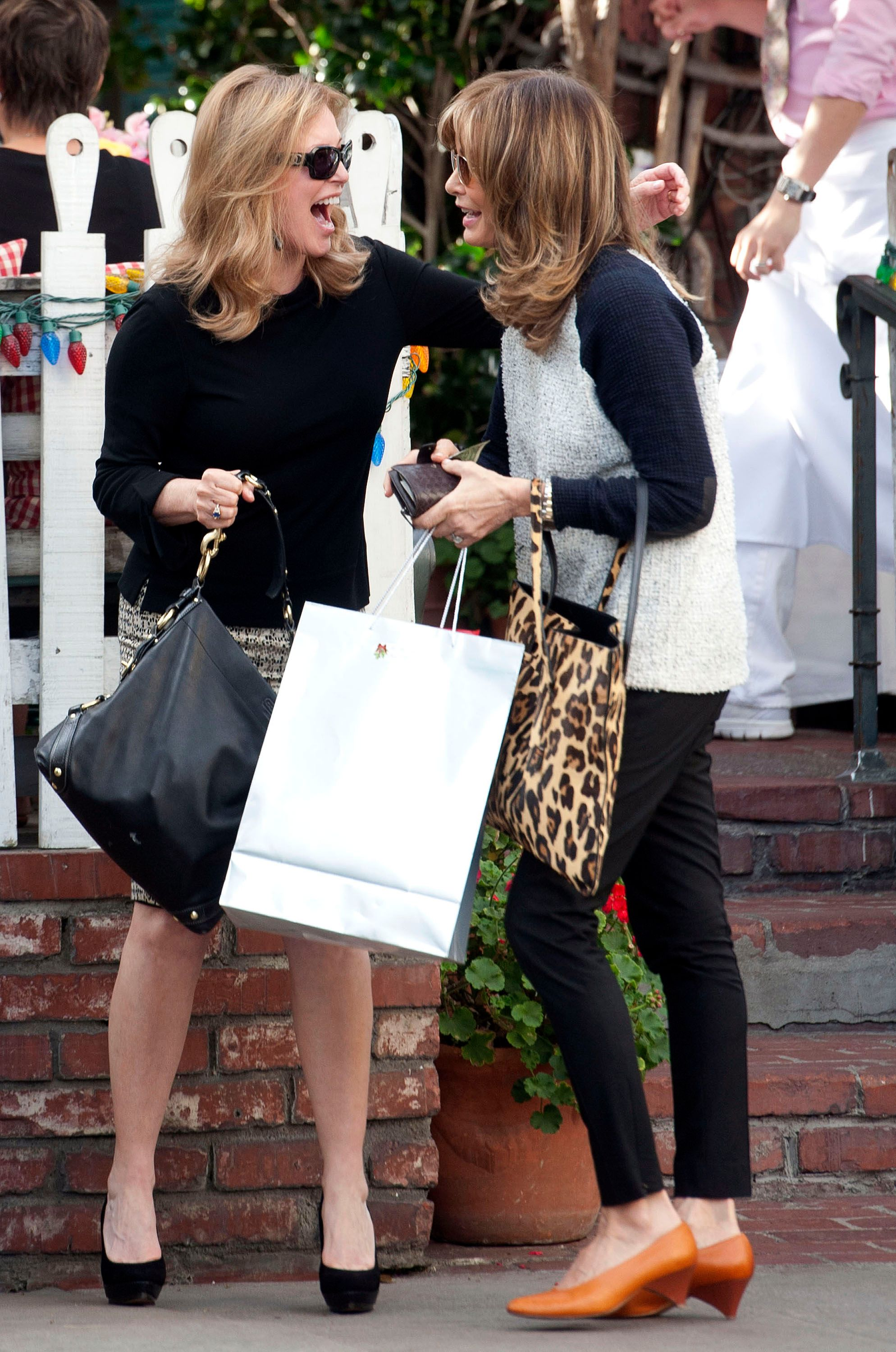Jaclyn Smith and Cheryl Ladd are seen having lunch at The Ivy on January 22, 2014 | Photo: Getty Images