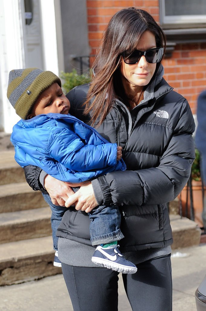 Sandra Bullock with her son Louis Bullock spotted in New York | Getty Images