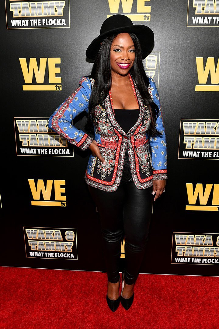 """Reality star Kandi Burruss attends the """"Waka & Tammy: What The Flocka"""" premiere event at Republic Lounge in Atlanta, Georgia in March 2020.   Source: Getty Images"""