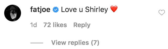 Fat Joe commented on a promotional portrait of Shirley Hemphill | Source: Instagram.com/snoopdogg