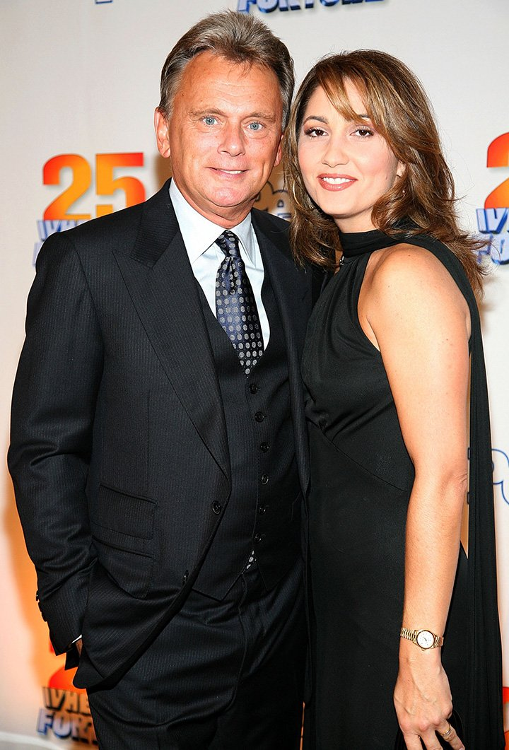 """Pat Sajak and wife Lesley Brown Sajak attending the 25th anniversary celebration of the television game show """"Wheel Of Fortune""""  in New York City in 2007. 