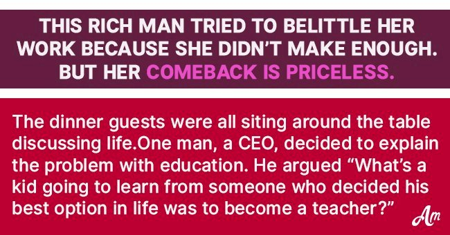 Story: Rich Man Tries to Belittle Woman Because She Doesn't Make Enough Money