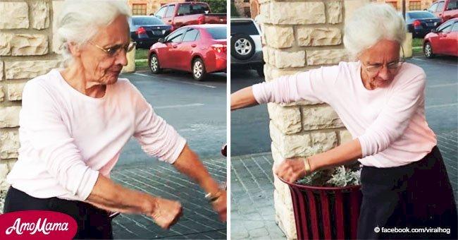 Abuelita de 70 años intenta baile viral y sus fabulosos movimientos se vuelven virales