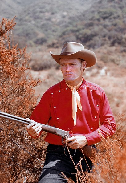"""Chuck Connors from """"The Rifleman"""" in 1958 in Los Angeles, California. 