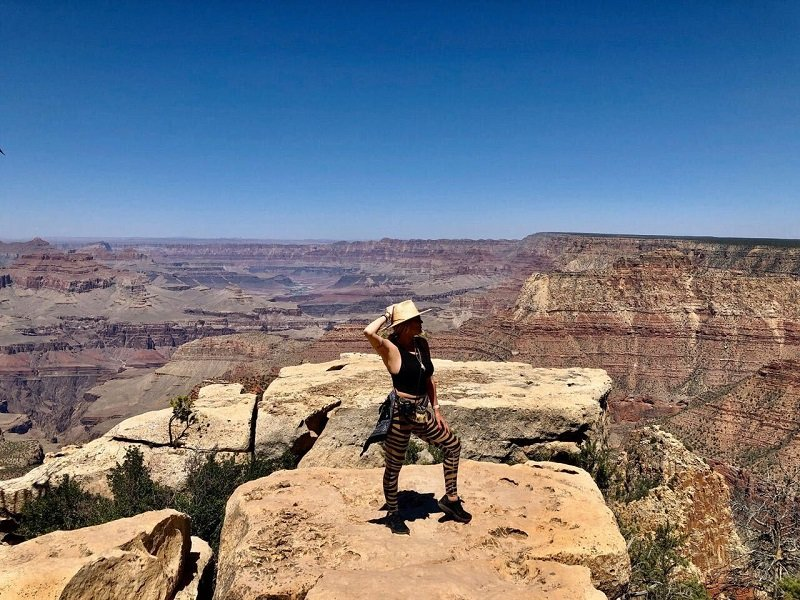 Marisa Sullivan visits the Grand Canyon on a cross-country road trip after news of being cancer-free | Photo: Courtesy of Marisa Sullivan