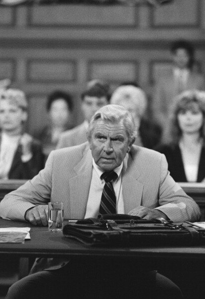 """Andy Griffith as Benjamin Matlock on the hit mystery legal drama television series """"Matlock"""" (1986-1995).   Photo: Getty Images"""
