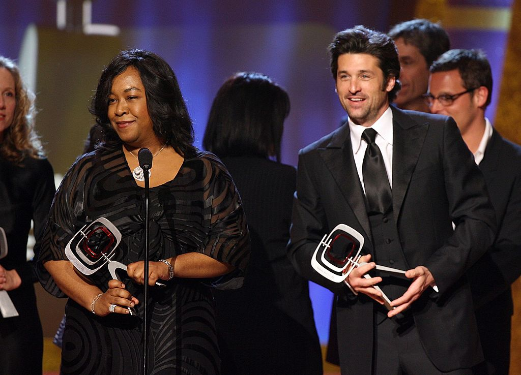 """Shonda Rhimes and Patrick Dempsey accept the TV Land Future Classic Award for """"Grey's Anatomy"""" , March 2006   Source: Getty Images"""