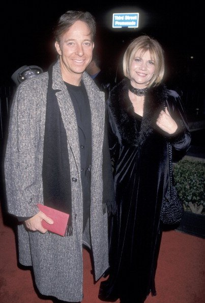 "Markie Post and husband Michael A. Ross attend the ""Mighty Joe Young"" Santa Monica Premiere on December 10, 1998 