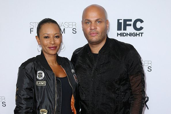 """Singer Mel B and ex-husband Stephen Belafonte at the premiere of IFC Midnight's """"Intruder"""" at Regency Bruin Theater 