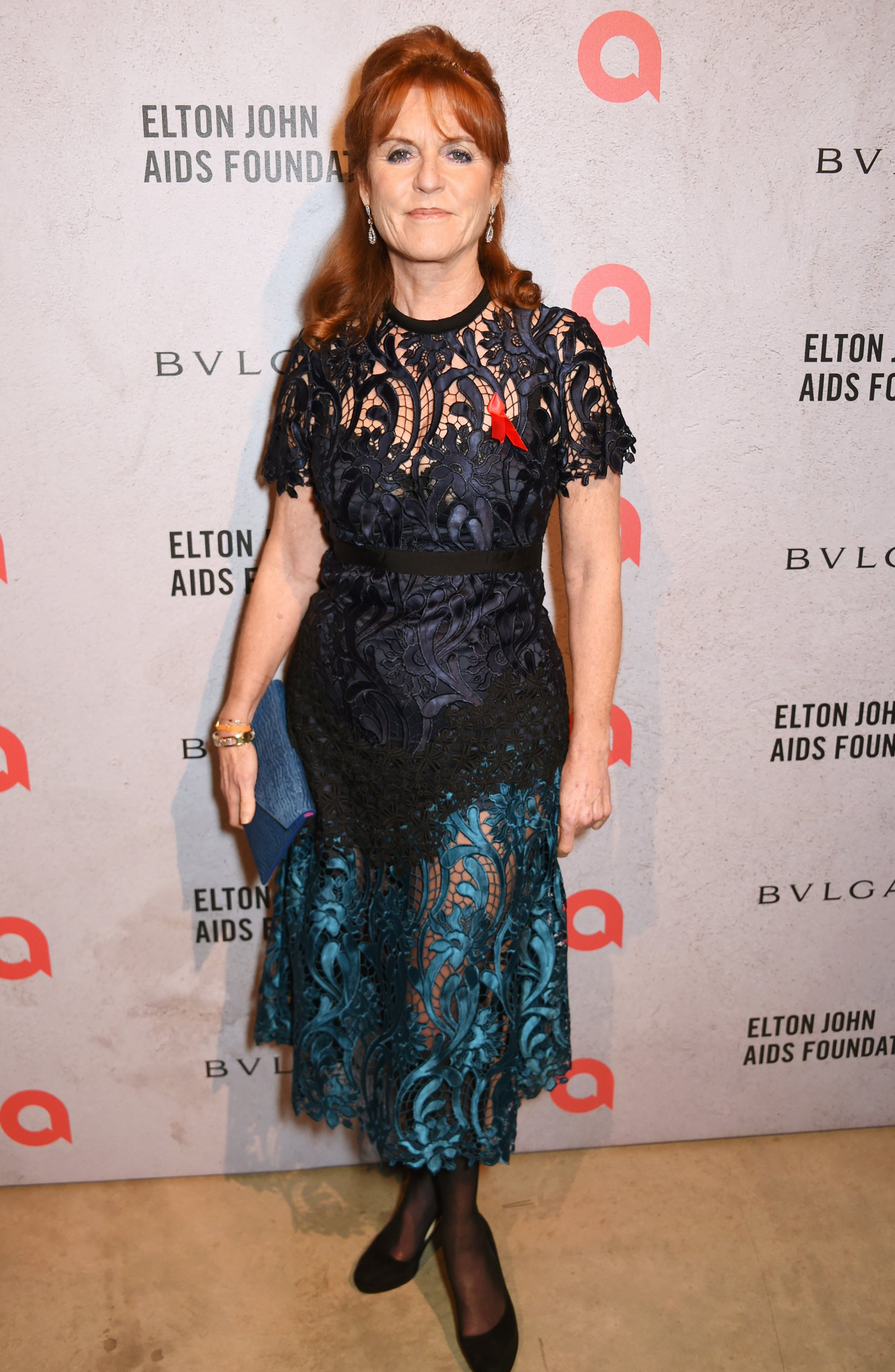 Sarah Ferguson, ex-wife of Prince Andrew, at the 20th Annual Elton John Aids Foundation Academy Awards Viewing Party| Photo: Getty Images