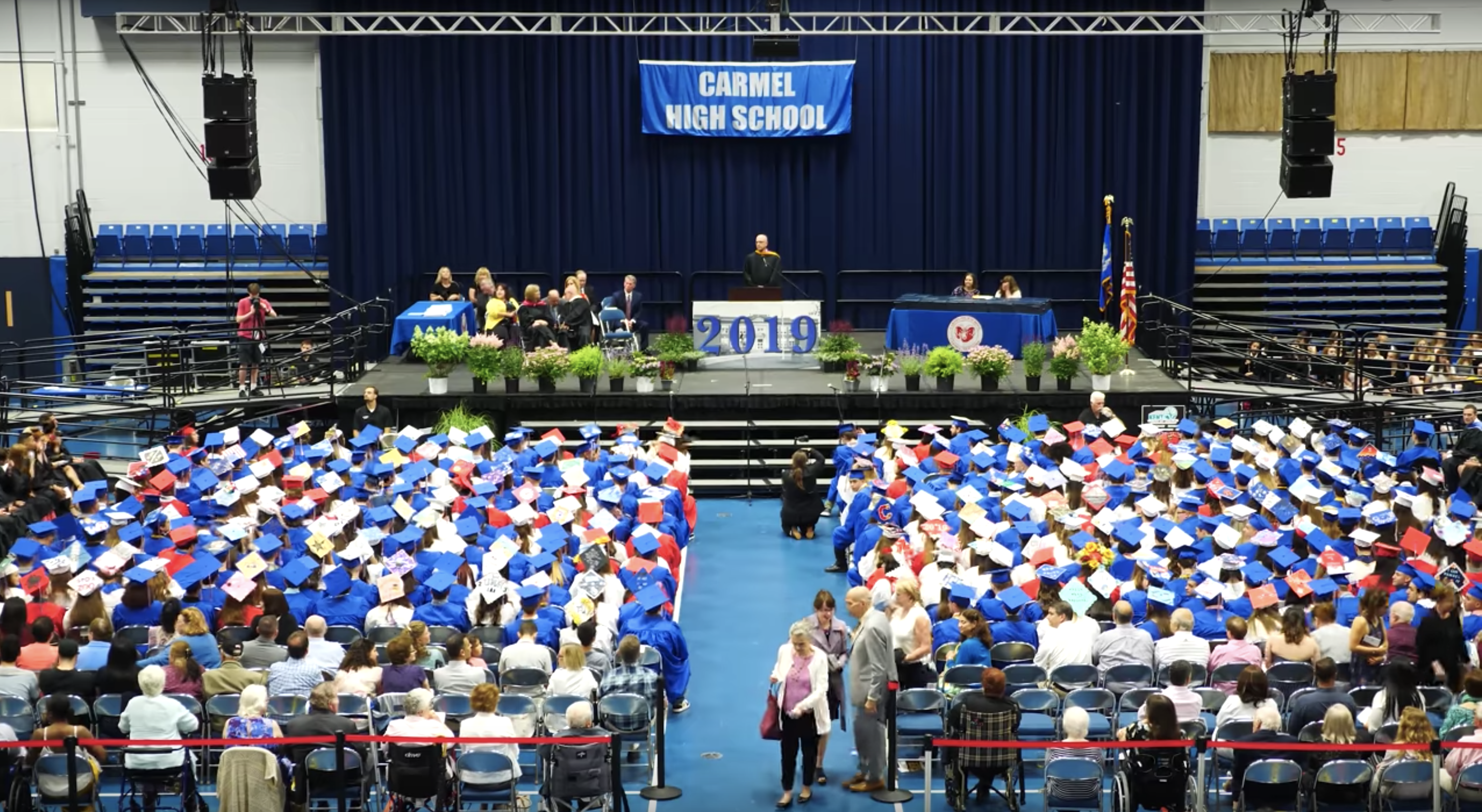 Carmel High School's graduation ceremony. | Source: YouTube:  RaneyDayMedia