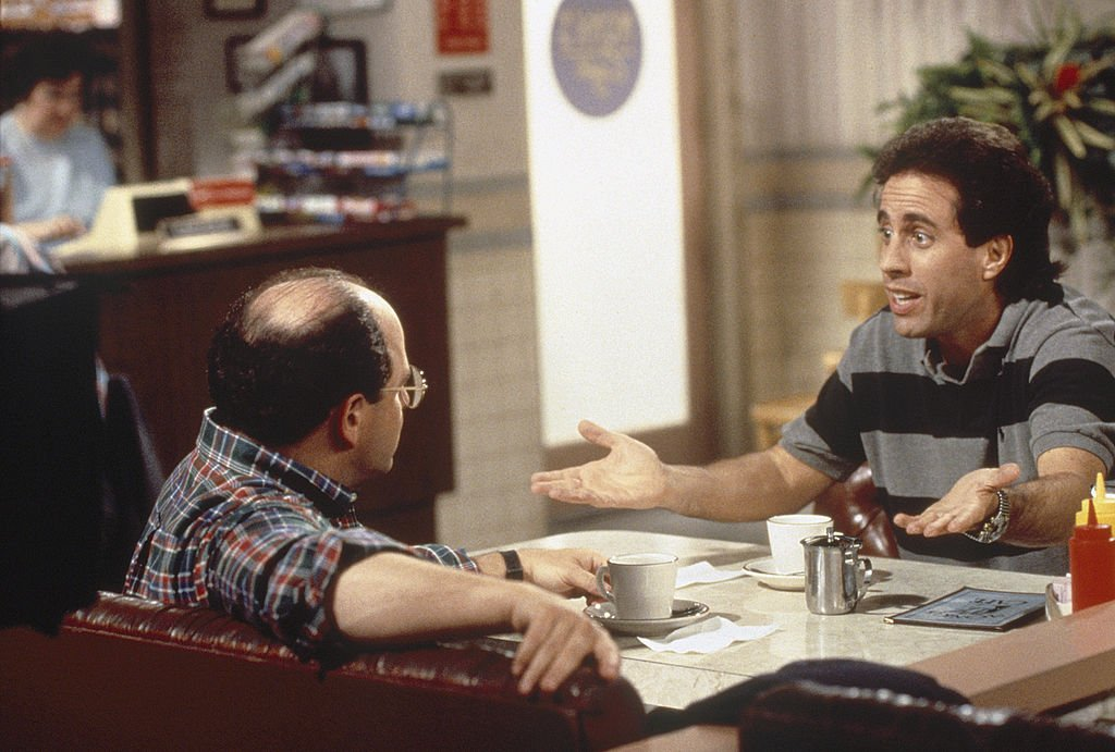 """Seinfeld's """"The Engagement"""" Episode 1 - Jason Alexander as George Costanza, Jerry Seinfeld as himself 