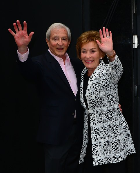"Jerry Sheindlin and Judy Sheindlin are seen at ""Good Morning America"" in New York City 