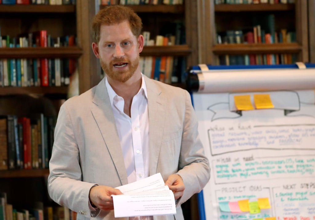 Prince Harry, Duke of Sussex attends Dr. Jane Goodall's Roots & Shoots Global Leadership Meeting at Windsor Castle | Photo: Getty Images