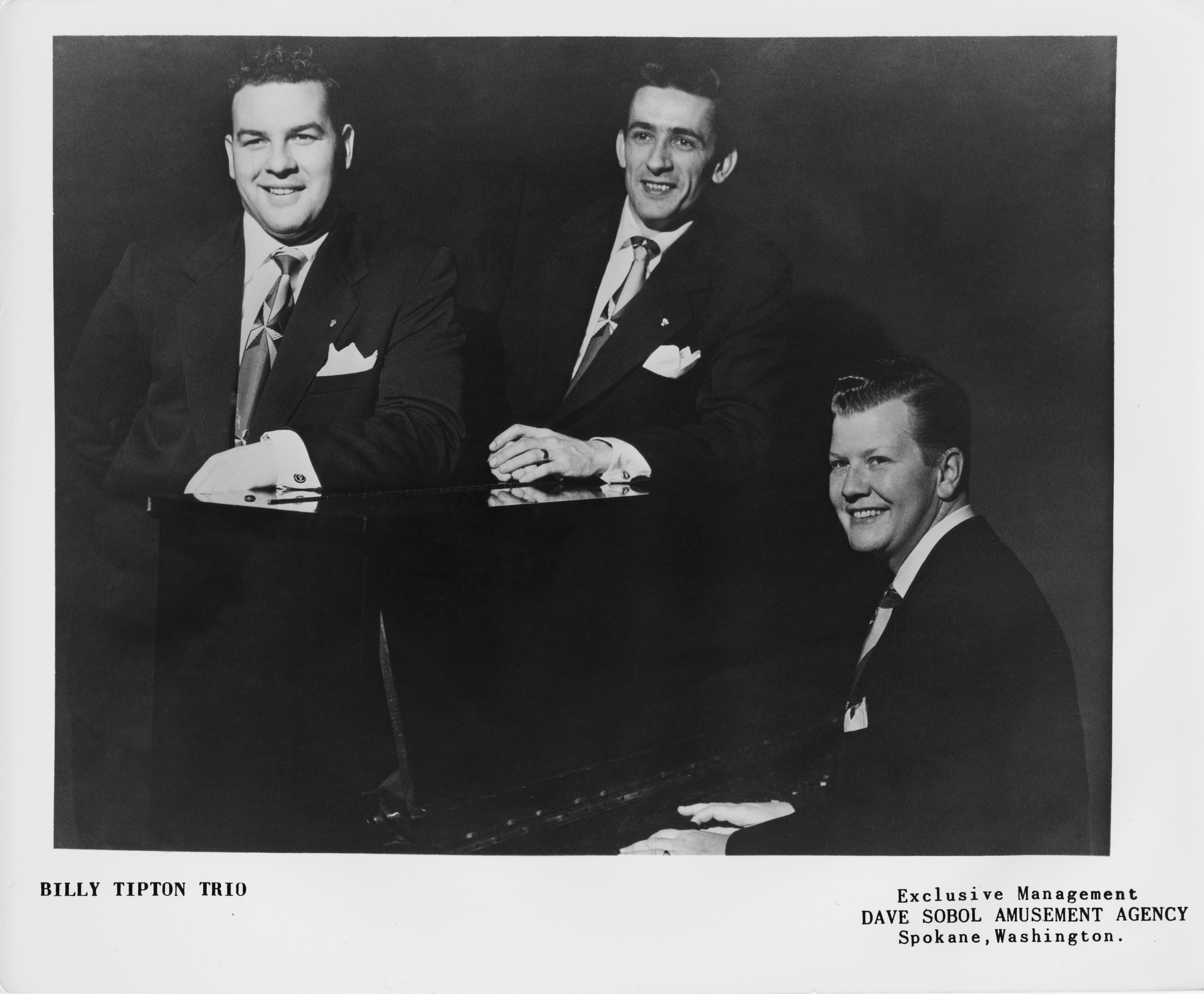 The Billy Tipton Trio (Billy at right) poses for a publicity shot circa 1955 in Spokane, Washington. | Source: Getty Images