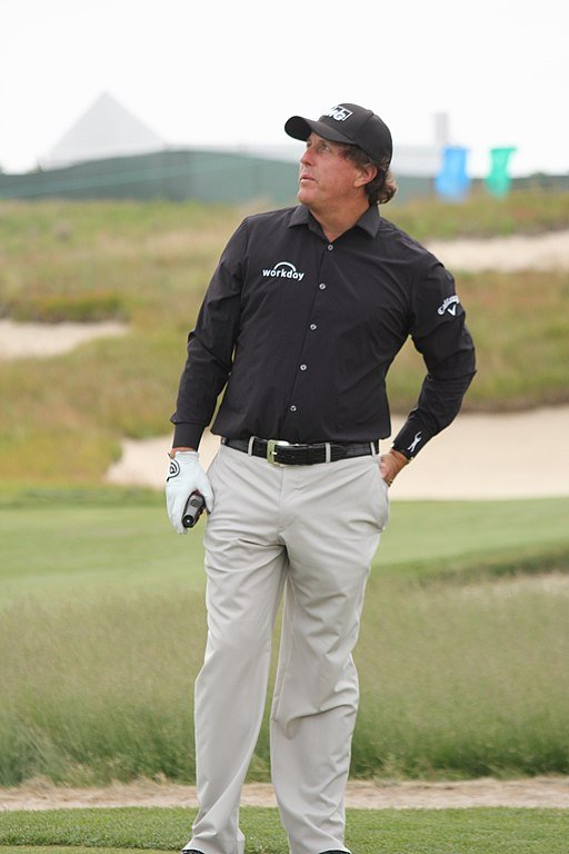 Phil Mickelson at the 2018 US Open in Search Results Web results  Shinnecock Hills Golf Club in Long Island | Source: Wikimedia Creative Commons/ Peetlesnumber1