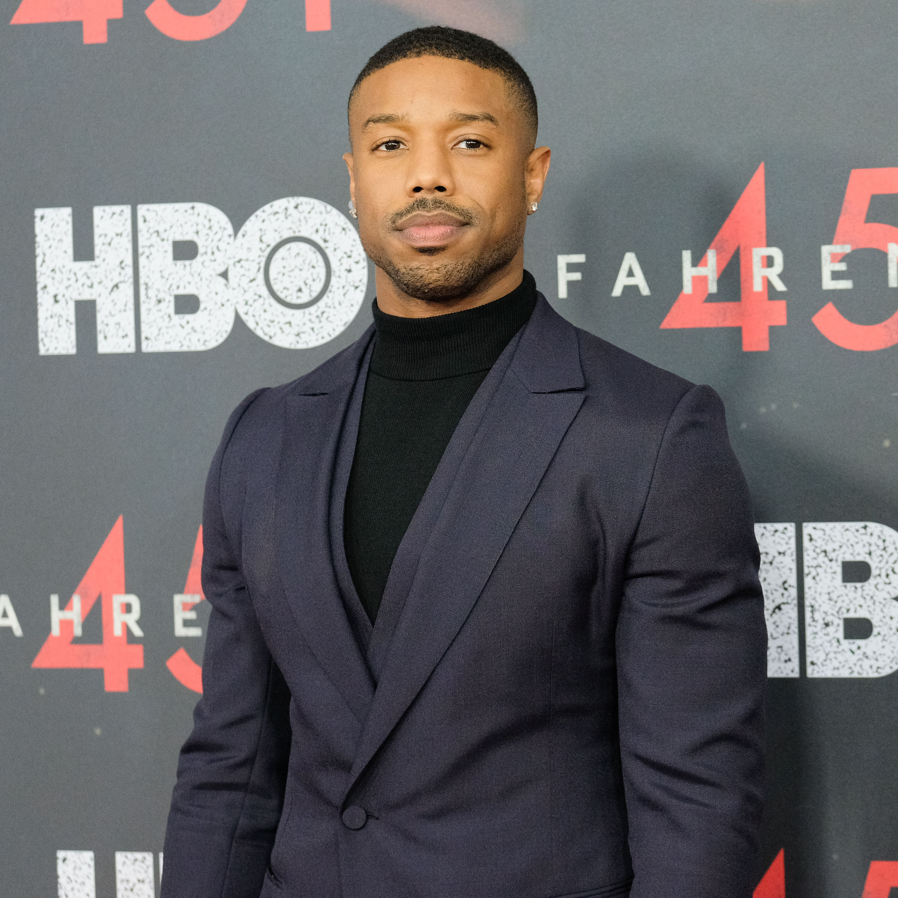 """Michael B. Jordan at the """"Fahrenheit 451"""" New York premiere at NYU Skirball Center on May 8, 2018. 