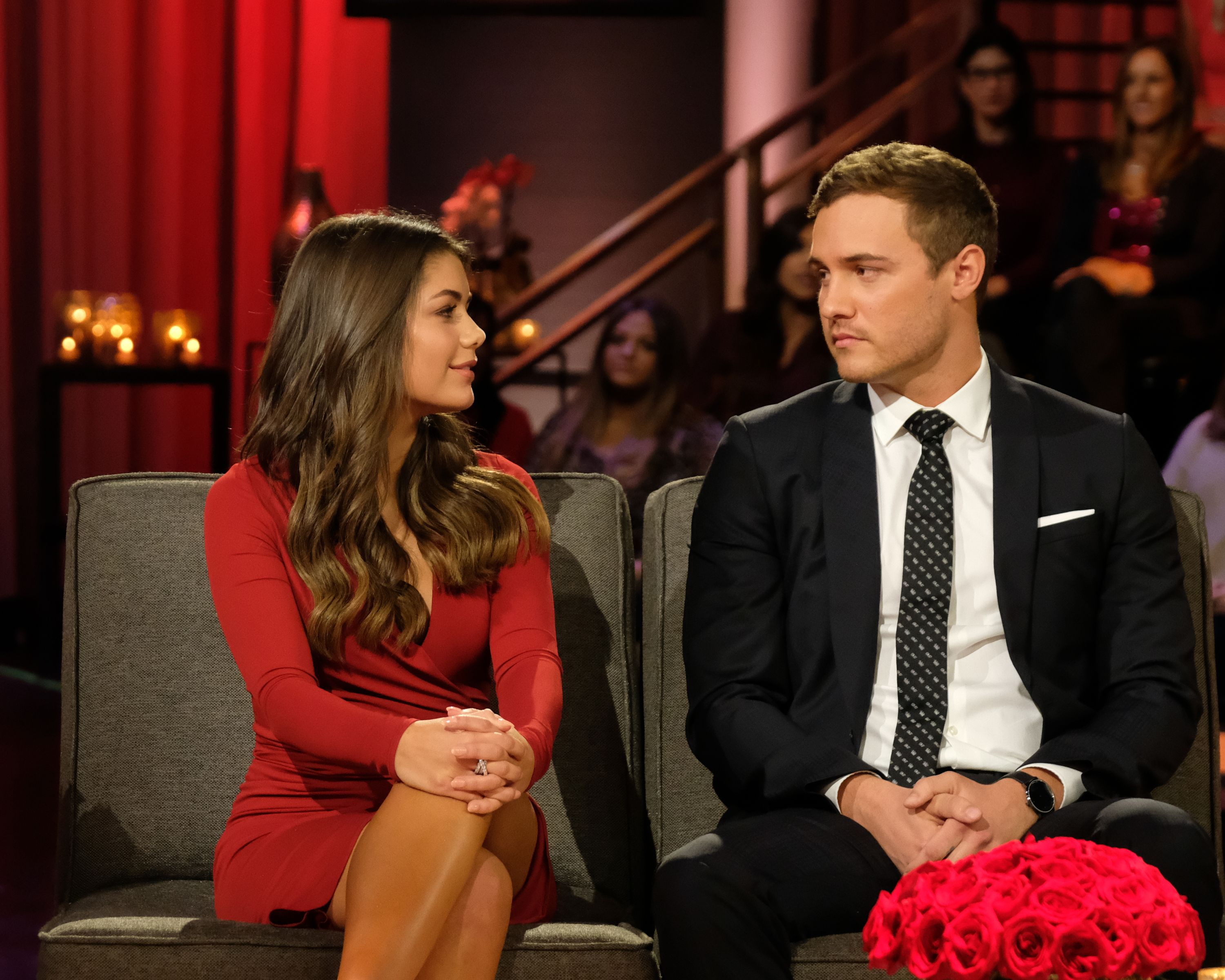 "Peter Weber and Hannah Ann during the second night of the Season 24 finale of ""The Bachelor"" 