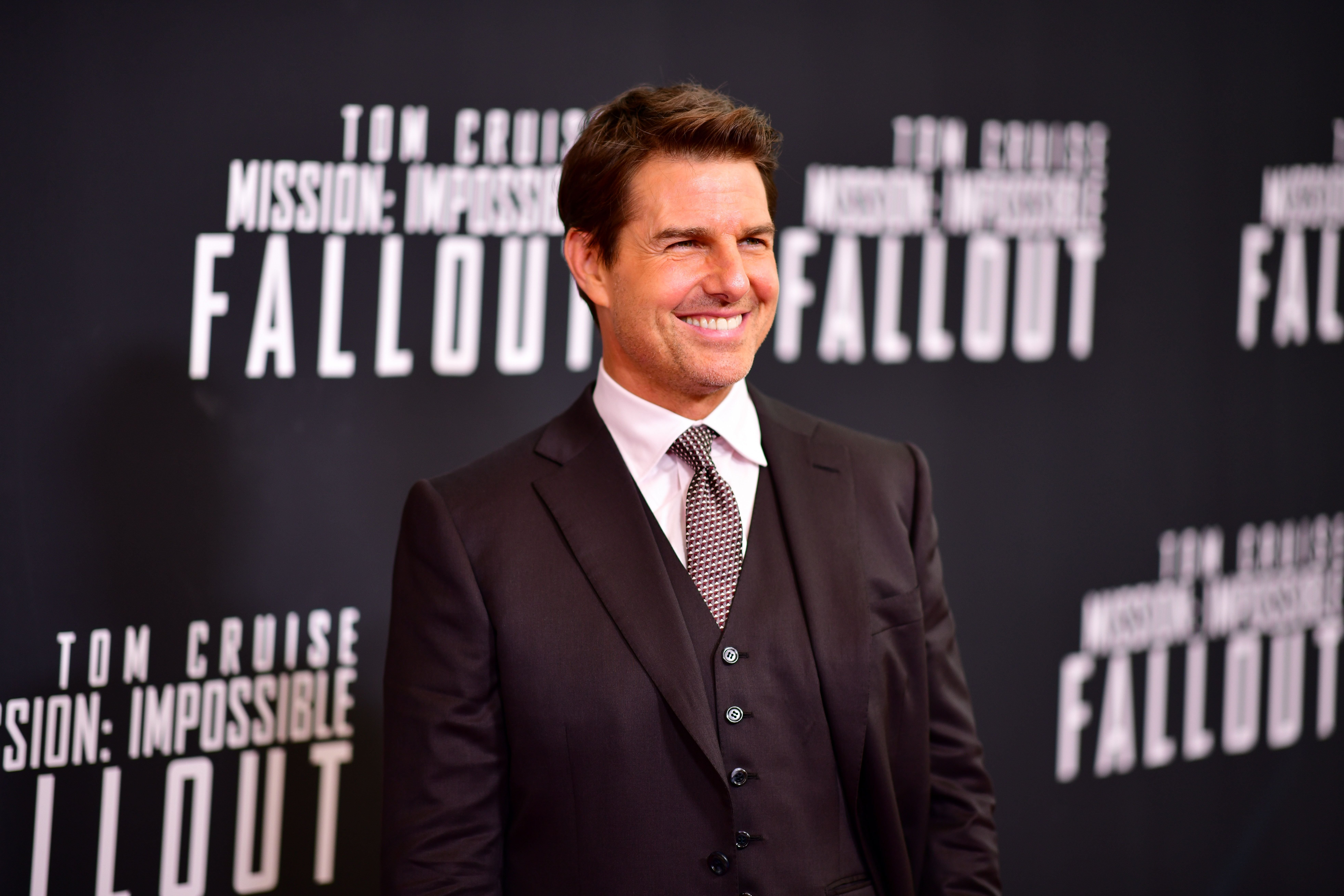 "Tom Cruise at the ""Mission: Impossible - Fallout"" U.S. Premiere at Lockheed Martin IMAX Theater at the Smithsonian National Air & Space Museum on July 22, 2018 