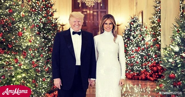 'Cutout versions of themselves': experts explain why Trump's family Christmas card looks weird