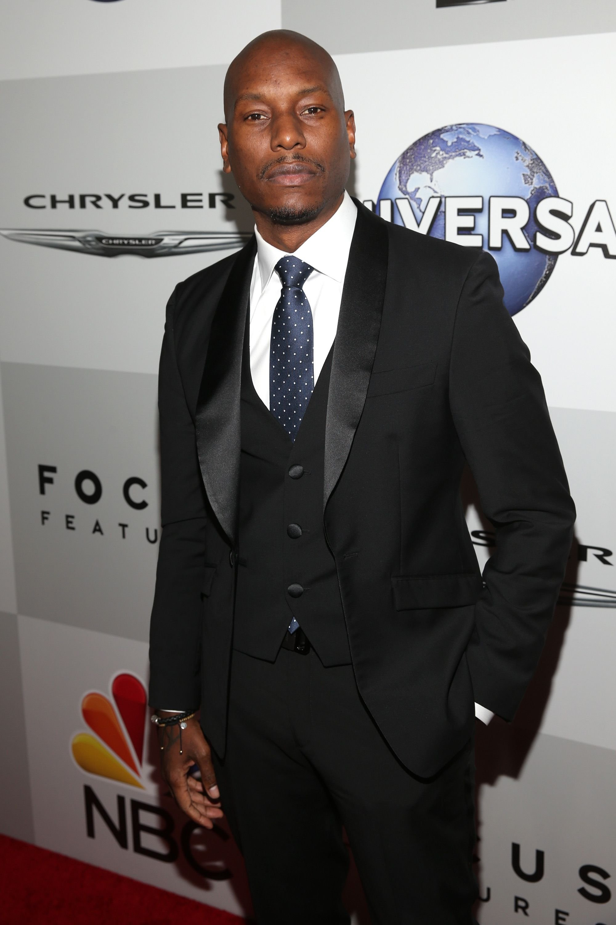 Tyrese Gibson at Universal, NBC, Focus Features, and E! Entertainment Golden Globe Awards After Party on January 10, 2016, in Beverly Hills, California | Photo: Jesse Grant/Getty Images