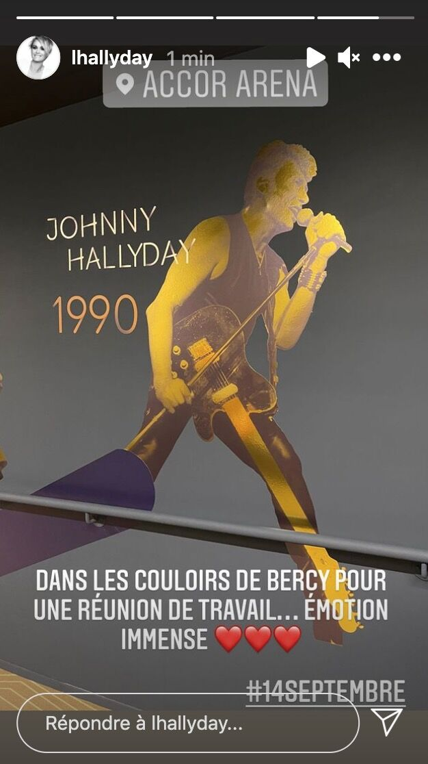 Photo d'une silhouette de Johnny Hallyday. | Photo : Instagram Story / lhallyday