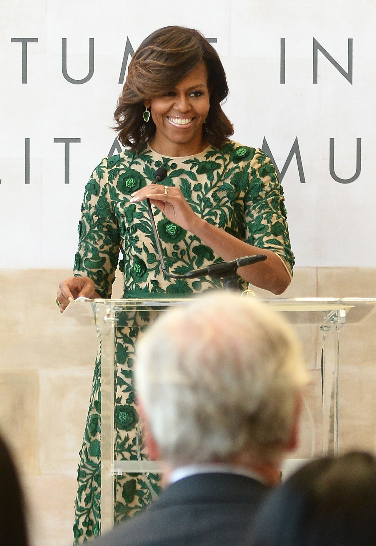 Former First Lady of the United States Michelle Obama speaks onstage at the Anna Wintour Costume Center Grand Opening at the Metropolitan Museum of Art on May 5, 2014. | Photo: Getty Images