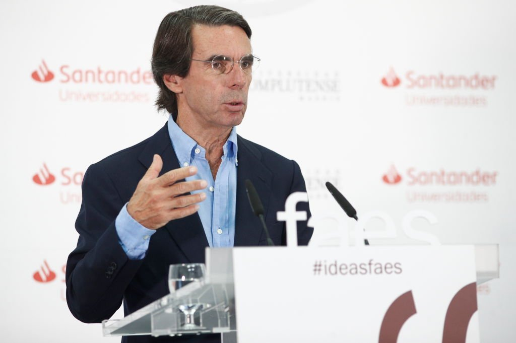 José María Aznar dicta una conferencia. | Foto: Getty Images